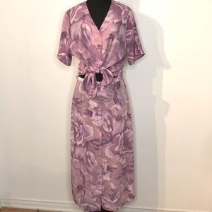 Vintage 2pcs skirt set in pastel floral